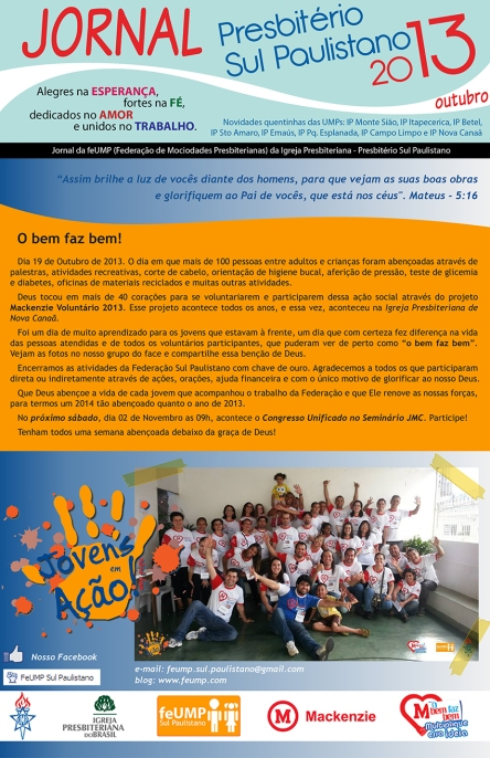 Jornal da FeUMP - Outubro 2013